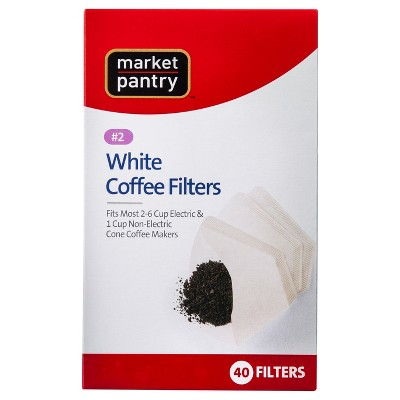 White Cone #2 Coffee Filters 40 ct - Market Pantry™