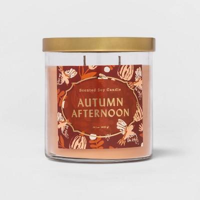 15.1oz Lidded Glass Jar 2-Wick Autumn Afternoon Candle - Opalhouse™
