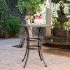 Alfresco Round Cast Aluminum Patio Bar Table - Bronze - Christopher Knight Home - image 2 of 4