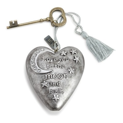"DEMDACO To The Moon Art Heart 4"" - Silver"