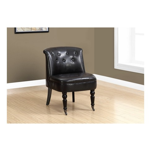 Dark Brown Accent Chairs.Accent Chair Dark Brown Leather Everyroom