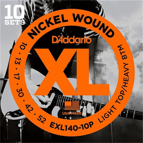 D'Addario EXL140 Light Top/Heavy Bottom Electric Guitar Strings 10-Pack - image 1 of 3