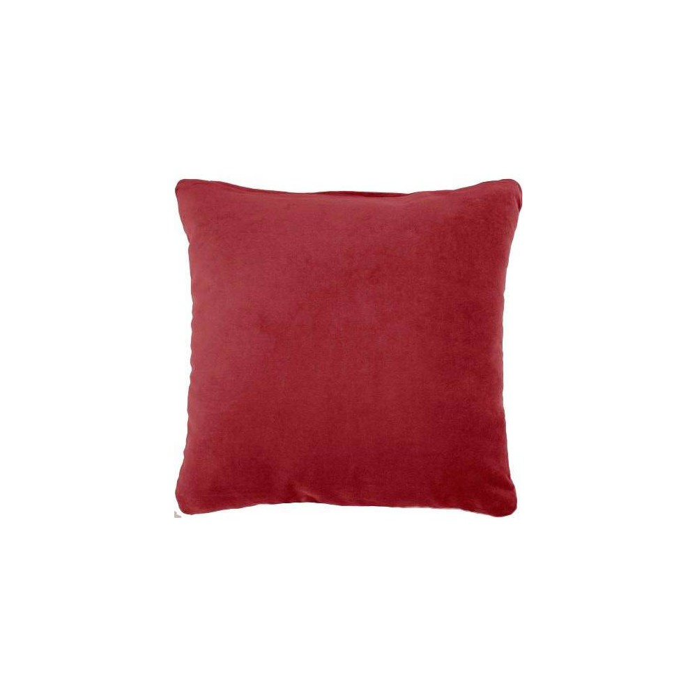Image of Life Styles Solid Velvet Square Throw Pillow Red - Nourison