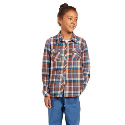 Volcom Girls Getting Rad Plaid Long Sleeve Flannel Shirt
