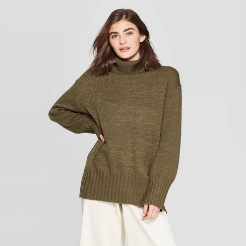 Women's Dolman Sleeve Turtleneck Tunic Sweater - A New Day™ - image 1 of 3