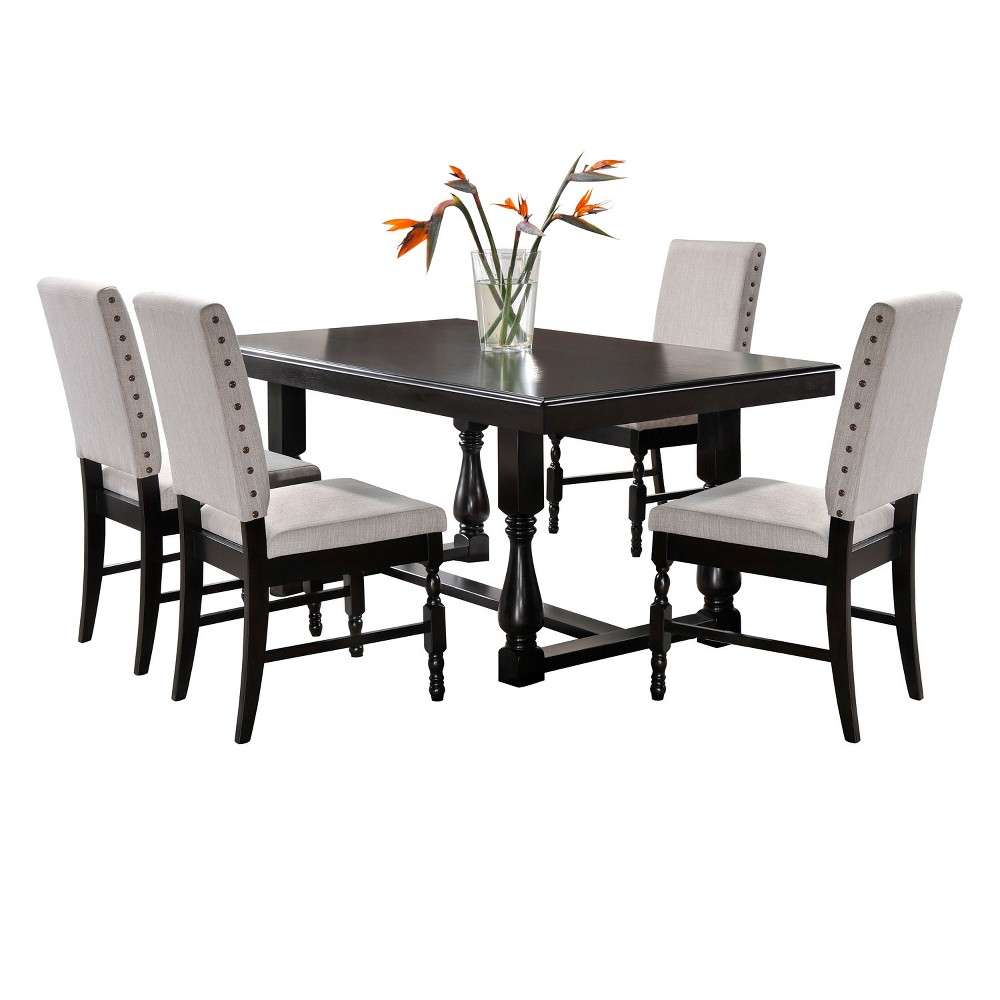 Image of 5pc Madison Dining Set - Charcoal - Home Source Industries
