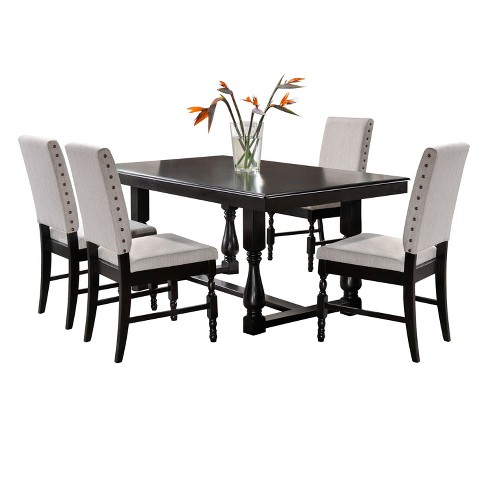 Madison 5pc Dining Set - Charcoal - Home Source Industries - image 1 of 3