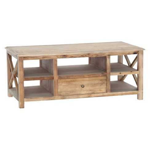 Grayson Coffee Table Gold Leaf with Gray-veined White Marble - Maaya Home - image 1 of 2