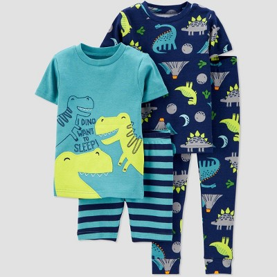 Toddler Boys' 4pc 100% Cotton 'Dino' Pajama Set - Just One You® made by carter's Green 2T