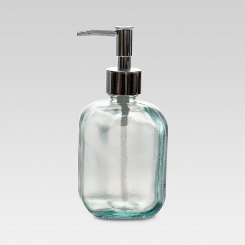 Recycled Glass Soap Dispenser Clear - Threshold™ - image 1 of 3