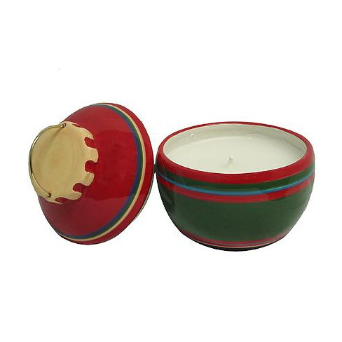 """Roman 2ct Better Homes and Gardens Christmas Ornament Jar Candle Set 5.25"""" - Red/Green - image 1 of 1"""