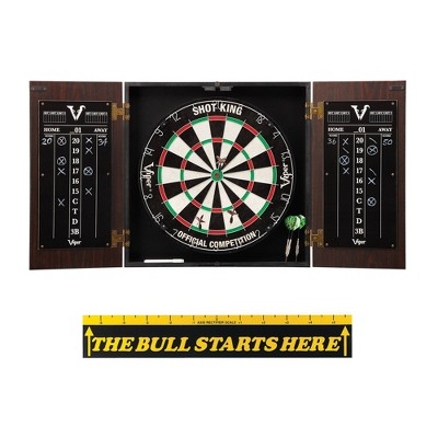 Viper Stadium Cabinet with Shot King Sisal Dartboard Throw Line Marker