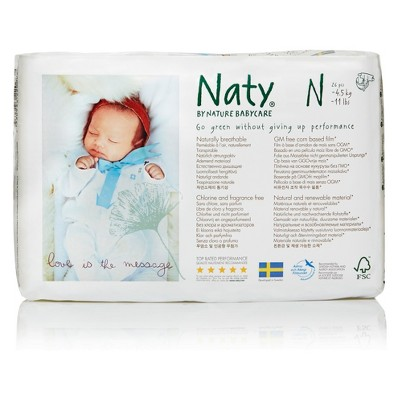 ECO by Naty Jumbo Pack Diapers - Newborn (26 ct)