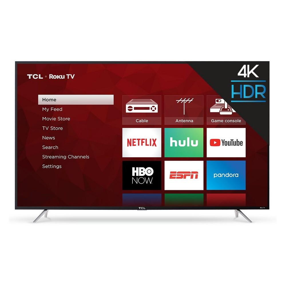 "TCL 65"" Roku 4K UHD HDR Smart TV (65S425), Black"