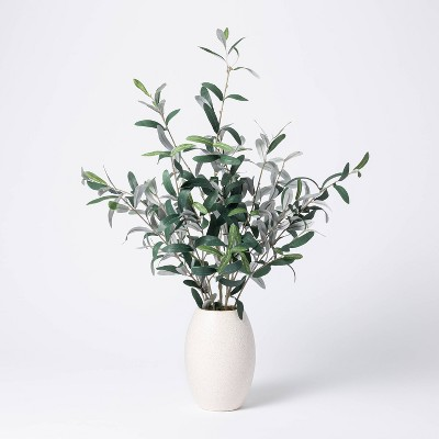"30"" x 24"" Artificial Olive Plant Arrangement in Pot - Threshold™ designed with Studio McGee"