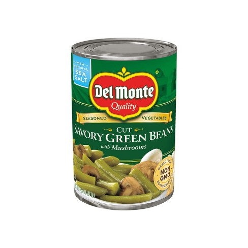 Del Monte Savory Green Beans with Mushrooms - 14.5 oz - image 1 of 1
