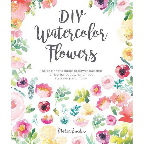 DIY Watercolor Flowers - by  Marie Boudon (Paperback) - image 1 of 1