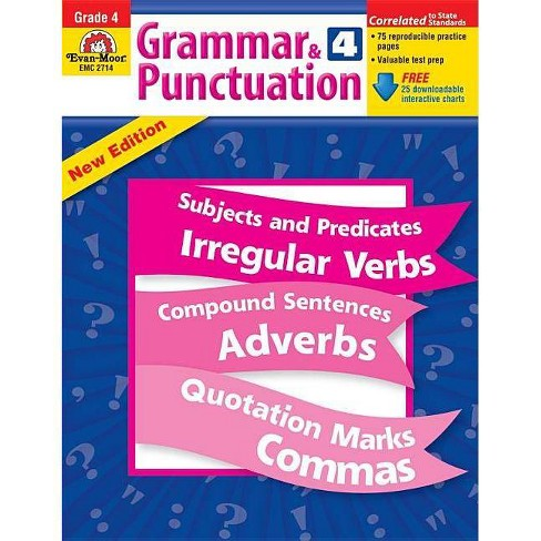 Grammar & Punctuation Grade 4 - by  Evan-Moor Educational Publishers (Paperback) - image 1 of 1