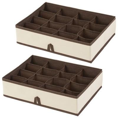mDesign Soft Fabric Dresser Drawer/Closet Storage Organizer