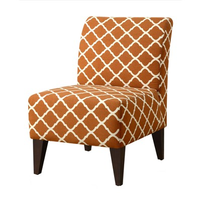 North Accent Slipper Chair Pattern Orange - Picket House Furnishings