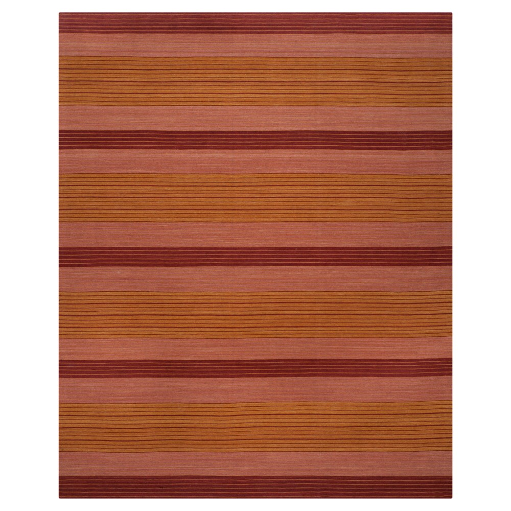 Rust Stripes Woven Area Rug - (5'x8') - Safavieh, Red