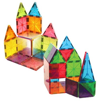 Magna-Tiles 32 Piece Clear Colors & 15 Piece Stardust Set