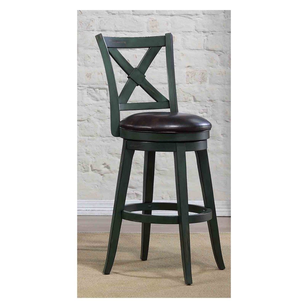 45 Bailey Bar Height Swivel Stool Green - Foremost