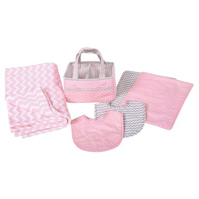 Trend Lab Baby Care Gift Set - Pink Sky 6pc