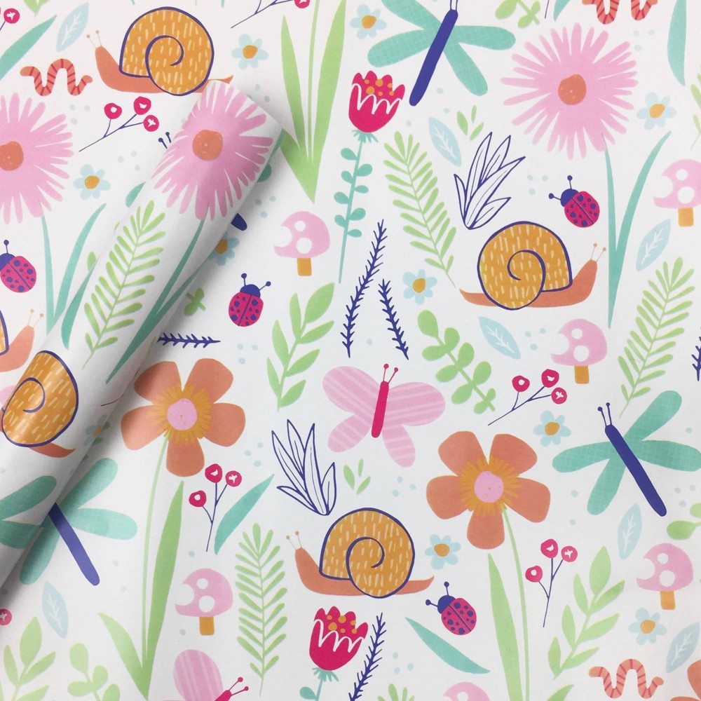 Image of Floral Critter Gift Wrap Paper - Spritz