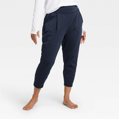 Women's Loose Fit Mid-Rise Practice Pants - All in Motion™ Navy XXL