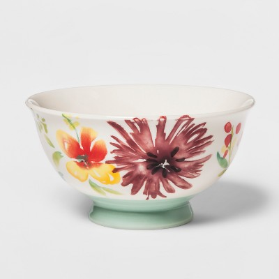 23oz Corinna Stoneware Floral Bowl - Threshold™