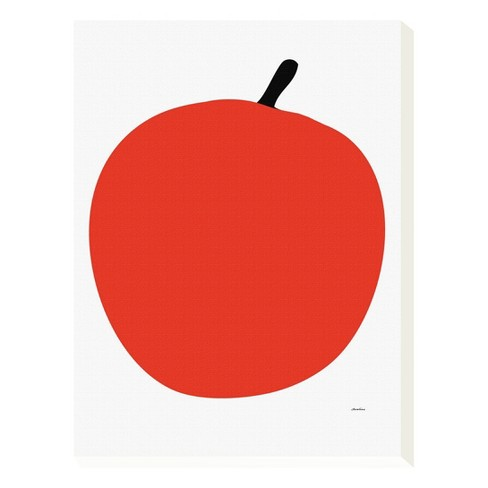 "Red Apple by Avalisa Canvas Art 12""x16"" - image 1 of 2"