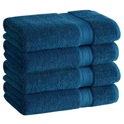 4pk Low Twist Washcloth Set with Enhanced Microban Blue - Cannon