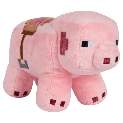 JINX Inc. Minecraft Adventure Series 6.5 Inch Collectible Plush Toy - Saddled Pig