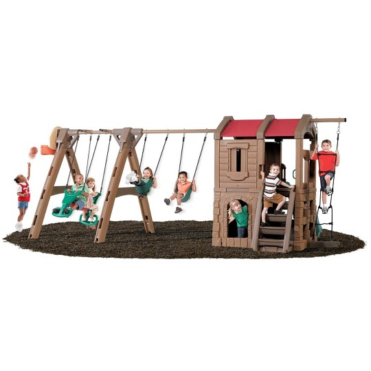 Step2 Naturally Playful Adventure Lodge Play Center with Glider image number null