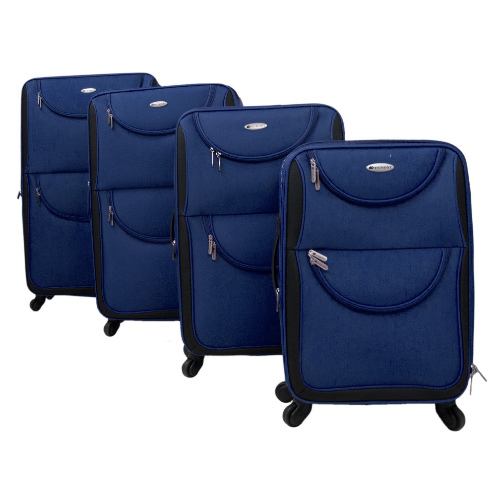Image of Dumont Hudson 4pc Spinner Luggage Set - Navy, Size: Small, Blue