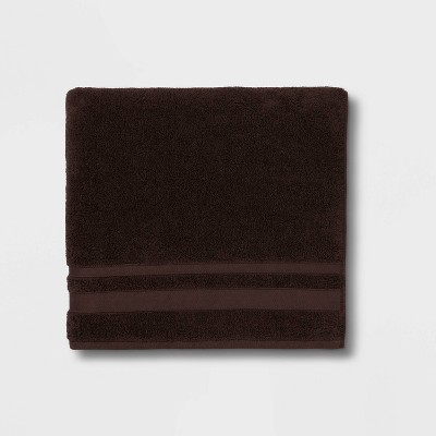 Performance Bath Towel Dark Brown - Threshold™