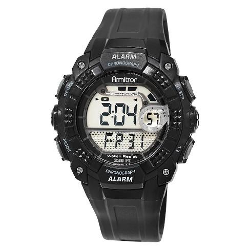 Men's Armitron Digital and Chronograph Sport Resin Strap Watch - Black - image 1 of 1