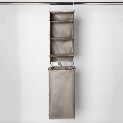 Hanging Closet Organizer With Detachable Hamper Gray - Room Essentials™