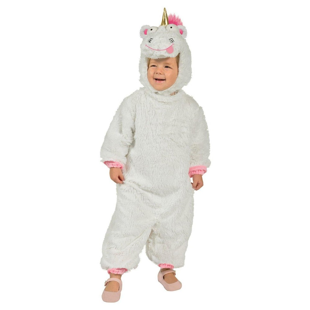 Image of Halloween Toddler Despicable Me 3 Fluffy Unicorn Costume, Adult Unisex, Size: Small, MultiColored