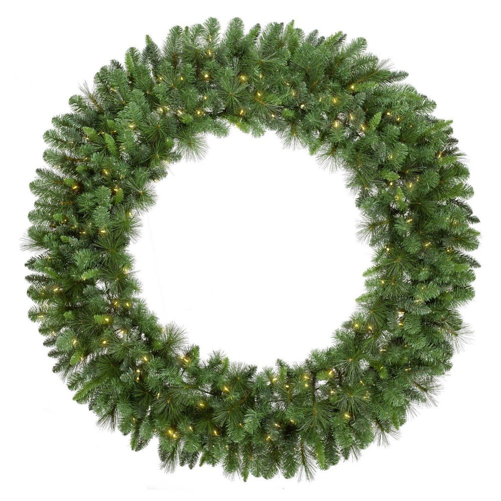 Image of Philips 5ft Prelit LED Warm White Light Artificial Christmas Wreath, Green