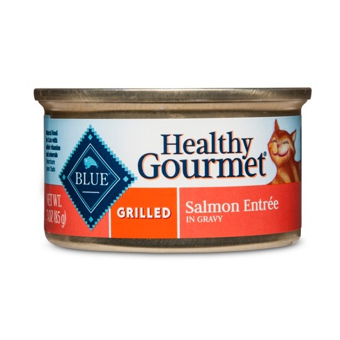 Blue Buffalo Healthy Gourmet Adult Grilled Salmon Entree - Wet Cat Food - 3oz - image 1 of 2