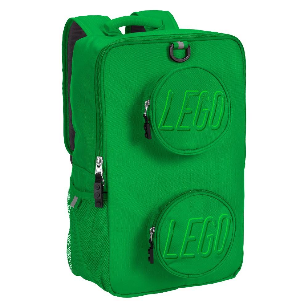 "Image of ""LEGO 16"""" Brick Kids' Backpack - Green"""