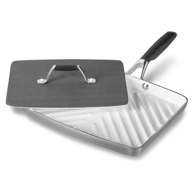 Select by Calphalon Hard Anodized Ceramic Nonstick Panini Pan and Press