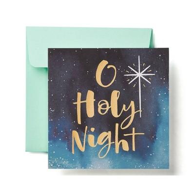 """O Holy Night"" Watercolor Night Sky Card"