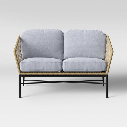 Standish Patio Loveseat Natural/Gray - Project 62™ - image 1 of 4