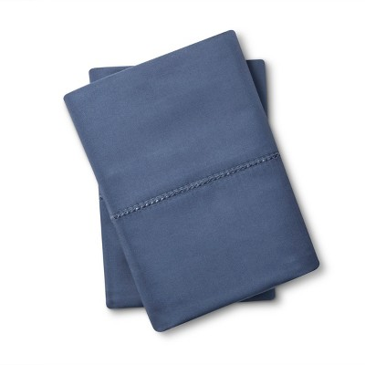 Supima Classic Hemstitch Pillowcase Set (King)Muted Blue 700 Thread Count - Fieldcrest™