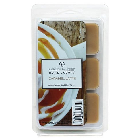 6pk Wax Melts Caramel Latte - Home Scents By Chesapeake Bay Candle - image 1 of 1