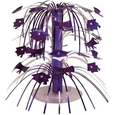 Graduation Purple Cascading Centerpiece