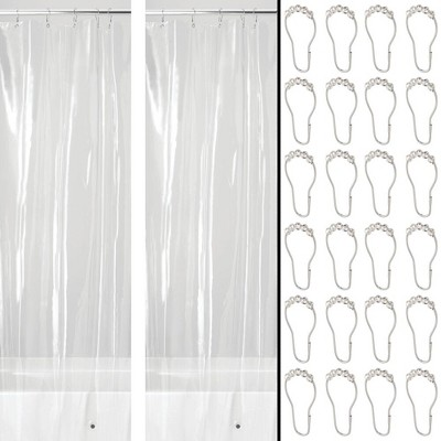 mDesign Waterproof Vinyl Shower Curtain Liner, 4.8-GA